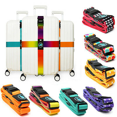 Adjustable Travel Luggage Baggage Suitcase Bag Packing Cross Strap Secure  new