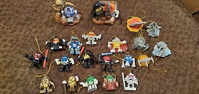 Lot SET of 14 M&M Star Wars ornaments