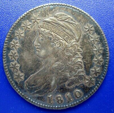 1810 Capped Bust Half Dollar Nice Original Fine Condition