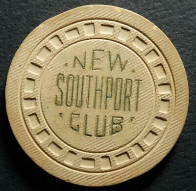 Vintage New Southport Club New Orleans Louisiana ILLEGAL GAMBLING CASINO CHIP