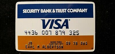 Security Bank and Trust Visa credit card exp 1978♡Free Shipping♡cc689