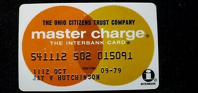 The Ohio Citizens Trust Co MasterCharge credit card exp 1979♡Free Shipping♡cc703