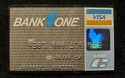 Bank One Visa credit card exp 1986♡Free Shipping♡ cc700