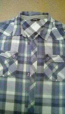 Boys checked shirt aged 12-13 by George, excellent condition