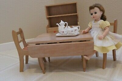 Lot of Red Robin brand 1940's solid wood doll furniture.