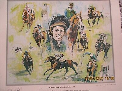 A Fantastic Horseracing Photograph Signed By The Legendary Jockey Lester Piggot
