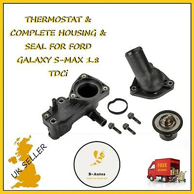 THERMOSTAT /& COMPLETE HOUSING /& SEAL FOR FORD GALAXY S-MAX 1.8 TDCi