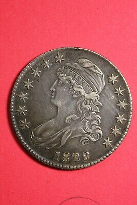 High Grade 1829 Capped Bust Half Dollar Exact Coin Shown FREE Shipping OCE 55