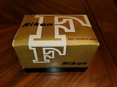 Nikon F eyelevel camera  w/ nikkor 50mm Lens working with box