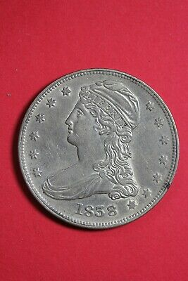 High Grade 1838 Capped Bust Half Dollar Exact Coin Shown FREE Shipping OCE 49