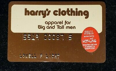 Harry's Clothing charge card♡Free Shipping♡cc1048♡