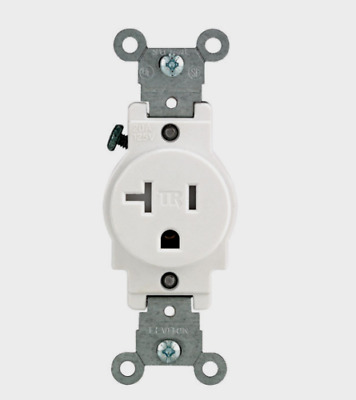 New!! LEVITON White Tamper Resistant Grounded OUTLET 20 Amp 125 Volt T5020-W