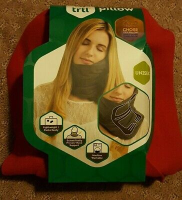 Trtl Pillow - Scientifically Proven Super Soft Neck Support Travel Pillow Red