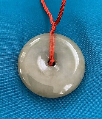 Certified Grade A 100% Natural Green Jadeite Jade Circle Pendant N1803061643