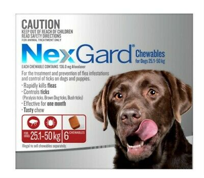 NexGard Flea and Tick Treatment for Extra Large Dogs 25.1kg-50kg - RRP $110