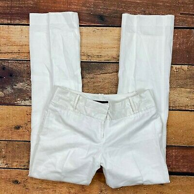The Limited Cassidy Fit Dress Pants Size 10 Womens Linen White Fully Lined