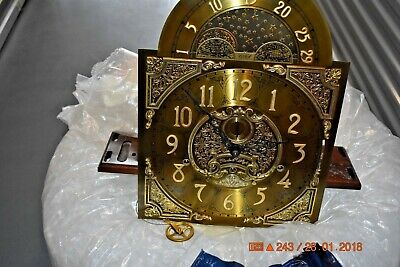 Charles Sligh Grandfather Clock Movement with Dial fully working and serviced