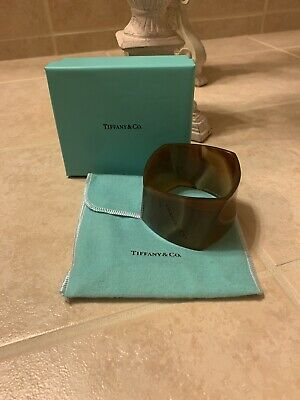 Tiffany & Co. Frank Gehry Agate Torque Bracelet Bangle Large