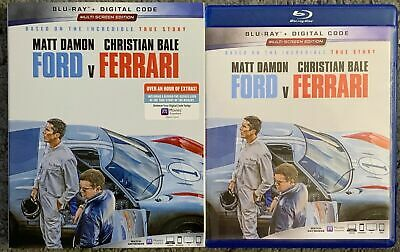 Ford V Ferrari Blu Ray + Slipcover Sleeve Free World Wide Shipping Buy It Now