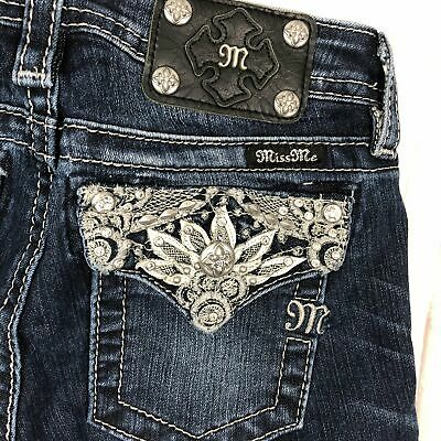 NEW - Miss Me Girls Jewelled Long Shorts- Size 14