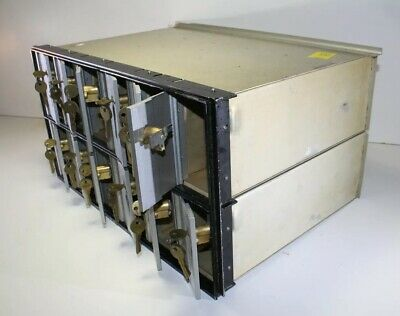 Metal Post Office Mail Box Sorter with 12 Slots and Keys