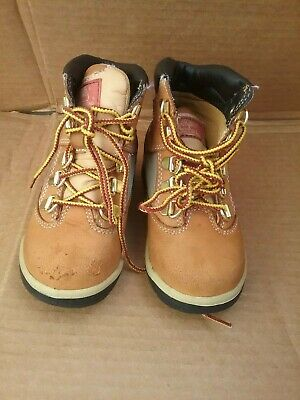 "Timberland 6"" Premium Toddler 12809 Wheat Waterproof Td Boots Shoes Baby Size 9"