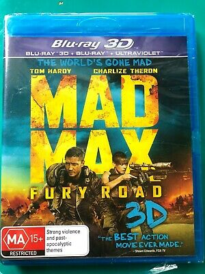 Mad Max Fury Road Blu ray 3D new & sealed + FREE POST