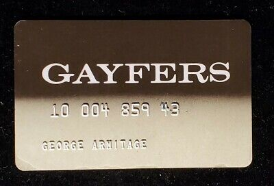 Gayfers charge card♡free shipping♡cc1077♡