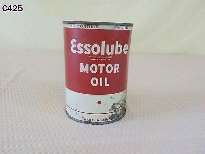 Vintage ESSO Lube One Quart Motor Oil Can