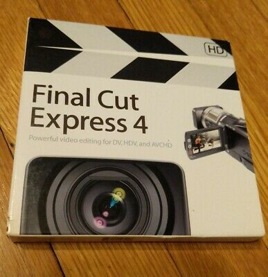 Apple Final Cut Express Retail Full Version for Mac M8987Z//A v1.0.1 Sealed 2003