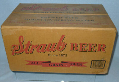Vintage STRAUB Beer Case, Heavy Cardboard Bottle Container, St Mary's PA Brewer