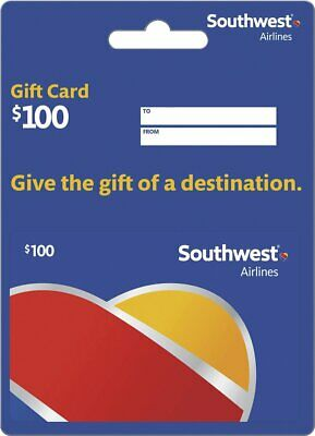 Southwest Airlines Gift Card $100 Value, Free Priority Shipping!
