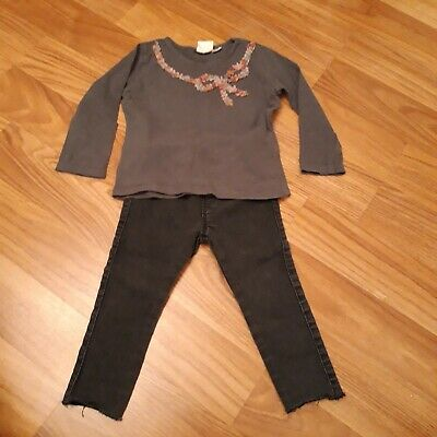 Girls Zara Jeans & Top Outfit 2-3 Years