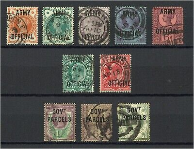 Lot:33854  GB QV - EDVII  Officials  Govt Parcels - Army to 1s