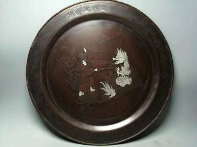 Rare Chinese Ancient Tibetan Folk Collection Red Copper Feng Shui Old Copper pla
