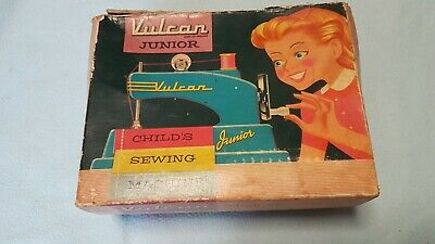 Vintage Vulcan Junior Childs Sewing Machine. Includes box.