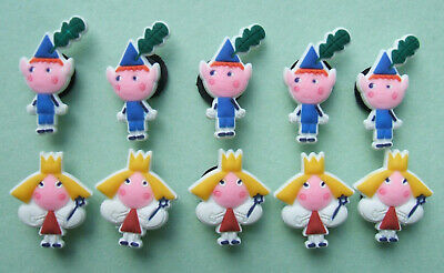SHOE CHARMS (F2) - inspired by CUTE FAIRY & PIXIE - (10BH) pack of 10