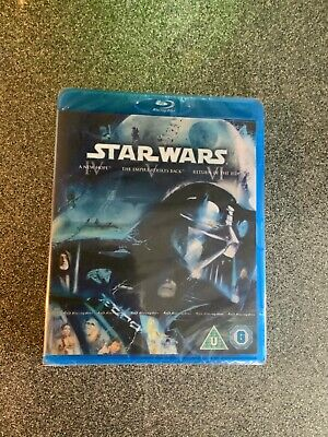 The Star Wars - The Original Trilogy (Blu-ray, 2011, Box Set) new