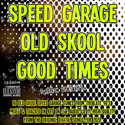 Speed Garage Old Skool Good Times 2020 NEW DJ MIXED CD 1990's Style High Quality