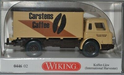 Wiking 1//87 Nr 0446 02 International Harvester Koffer-LKW Carstens OVP #2064