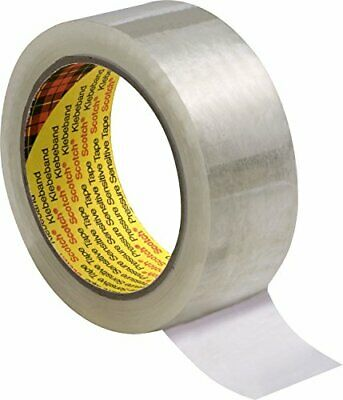 3M 309 Performance Low Noise Box Sealing Tape, 50 mm x 66 m, Clear, Pack of 6
