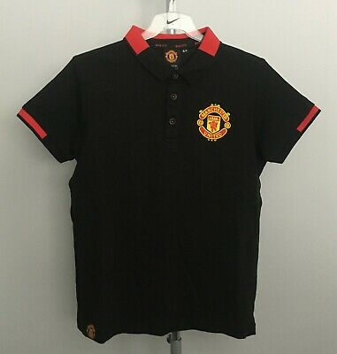 Manchester United F.C Black Core Polo Boys 8-9 Years Brand New With Tags