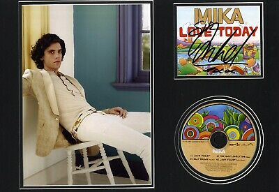 Mika - Lebanese Born English Singer & Songwriter I/P Signed C.D Cover Mounted.