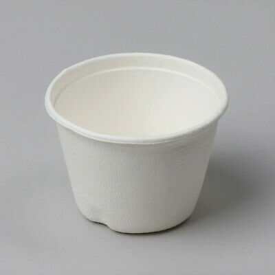 1800pcs Disposable Cane Fiber Sauce Containers Trays ECO friendly BIO 110ml 4oz