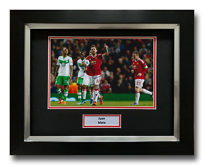 Juan Mata Hand Signed Framed Photo Display - Manchester United - Autograph.