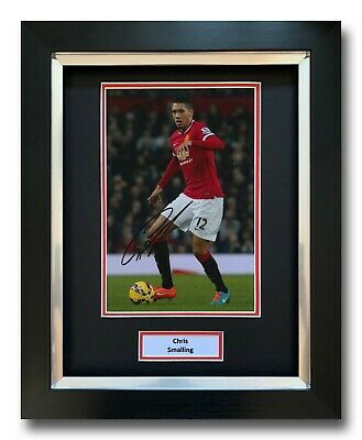 Chris Smalling Hand Signed Framed Photo Display - Manchester United - Autograph.