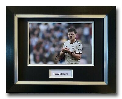 Harry Maguire Hand Signed Framed Photo Display - Manchester United Autograph.