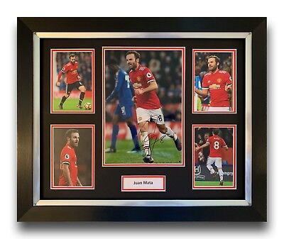 Juan Mata Hand Signed Framed Photo Display Manchester United Autograph.