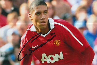 Manchester United Hand Signed Chris Smalling 6X4 Photo.