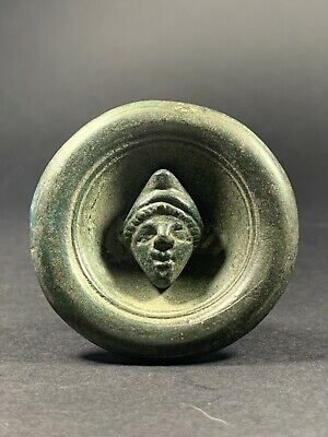 Museum Quality Ancient Roman Bronze Mount Applique With Face - Circa 100-200Ad